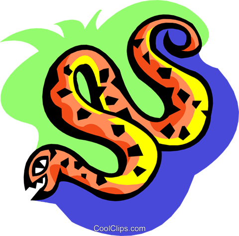 stylized snake Royalty Free Vector Clip Art illustration anim2099
