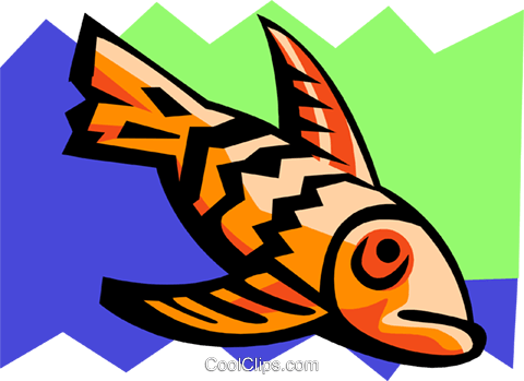 stylized fish Royalty Free Vector Clip Art illustration anim2102
