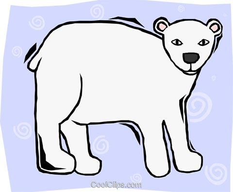 polar bear Royalty Free Vector Clip Art illustration anim2111