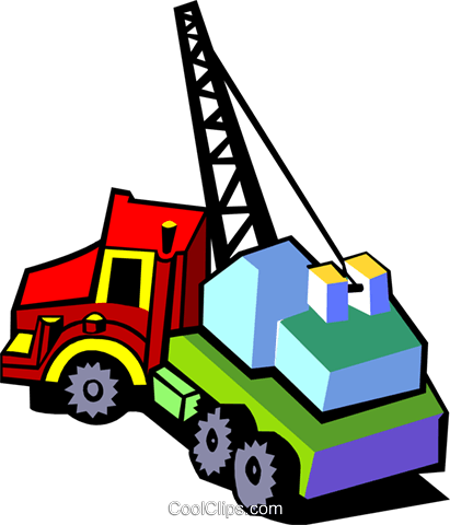 crane truck Royalty Free Vector Clip Art illustration indu0971