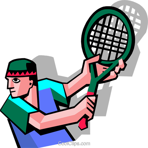 tennis player Royalty Free Vector Clip Art illustration peop3524