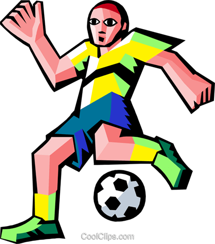 soccer players Royalty Free Vector Clip Art illustration peop3527