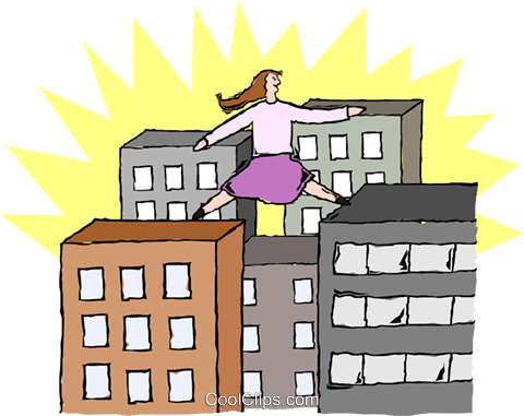 scaling new heights Royalty Free Vector Clip Art illustration peop3537