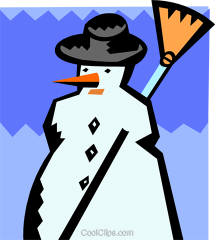 snowman Royalty Free Vector Clip Art illustration spec0378