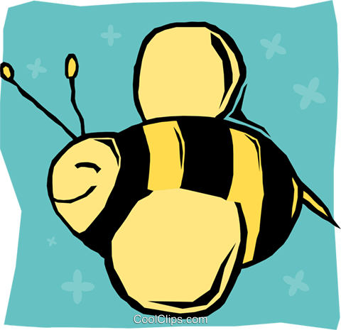 bumble bee Royalty Free Vector Clip Art illustration anim2121