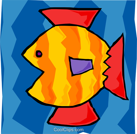 fish Royalty Free Vector Clip Art illustration anim2128