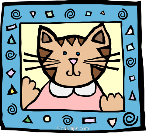 cat Royalty Free Vector Clip Art illustration anim2130