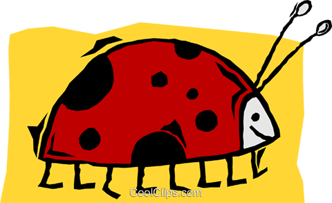 ladybug Royalty Free Vector Clip Art illustration anim2131