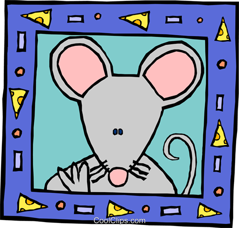 mouse Royalty Free Vector Clip Art illustration anim2133