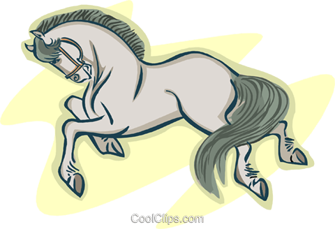 horse Royalty Free Vector Clip Art illustration anim2141