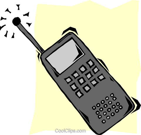 cellular phone Royalty Free Vector Clip Art illustration busi1656
