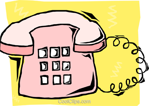 telephone Royalty Free Vector Clip Art illustration busi1657