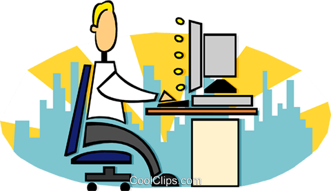 office work Royalty Free Vector Clip Art illustration busi1659