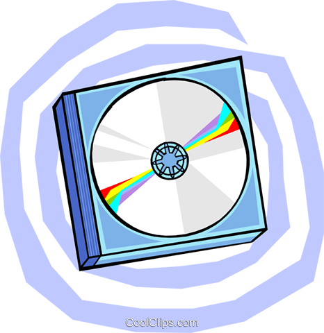 CD's Royalty Free Vector Clip Art illustration busi1662