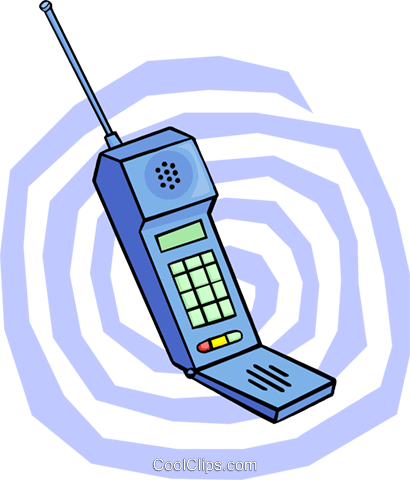 cellular phone Royalty Free Vector Clip Art illustration busi1663