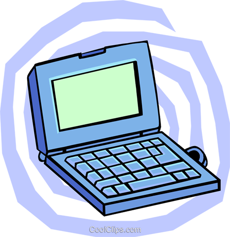 laptop PC Royalty Free Vector Clip Art illustration busi1664