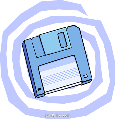 3.5 inch floppy Royalty Free Vector Clip Art illustration busi1665