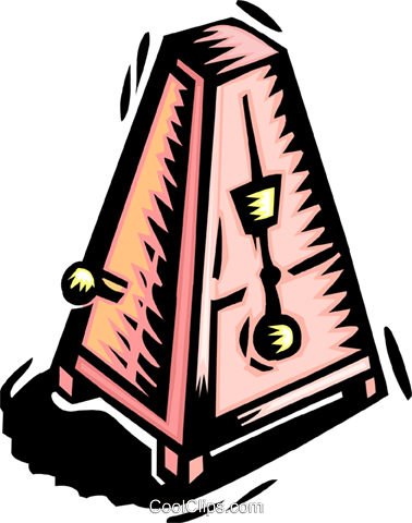metronome Royalty Free Vector Clip Art illustration ente0142