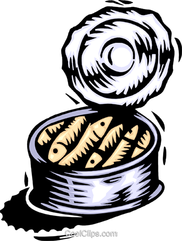 woodcut sardines Royalty Free Vector Clip Art illustration food1173