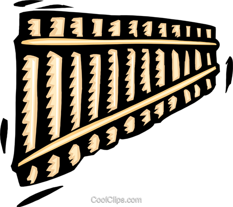 pan flute Royalty Free Vector Clip Art illustration hous1363