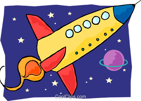 火箭 免版税矢量剪贴画插图图片