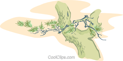 tree branch Royalty Free Vector Clip Art illustration natu0952
