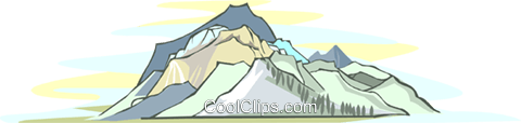 mountains Royalty Free Vector Clip Art illustration natu0954