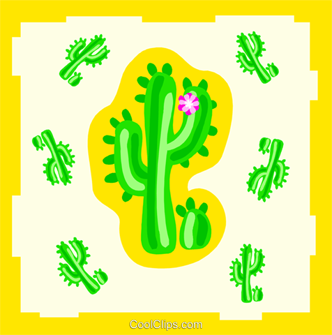 cactuses Royalty Free Vector Clip Art illustration natu0955