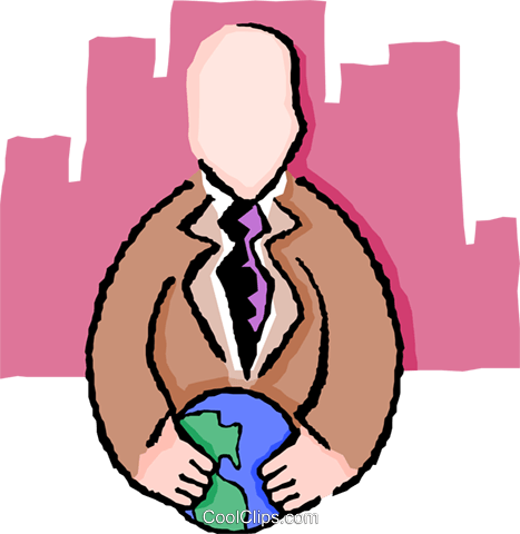 global approach Royalty Free Vector Clip Art illustration peop3569