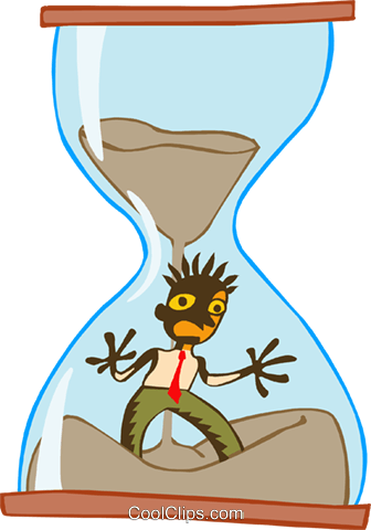 running out of time Royalty Free Vector Clip Art illustration peop3583