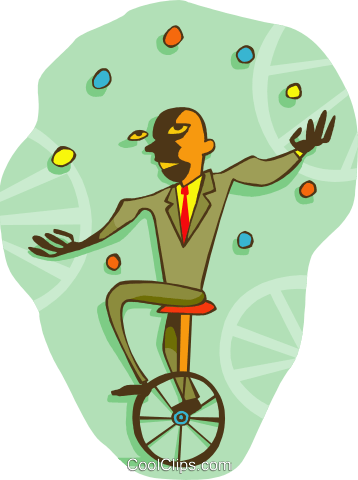 juggling Royalty Free Vector Clip Art illustration peop3585