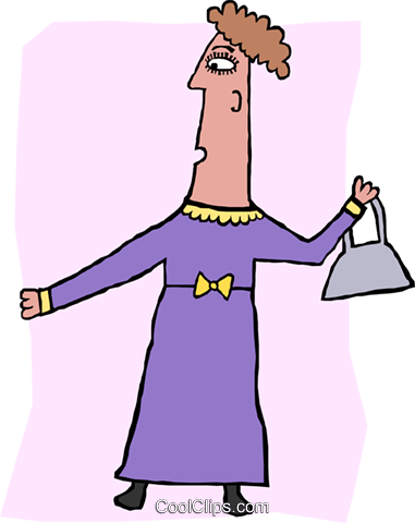 Middle age woman Royalty Free Vector Clip Art illustration peop3587