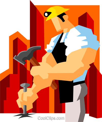 miner chiseling Royalty Free Vector Clip Art illustration peop3592