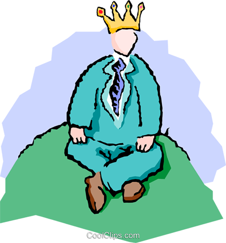 king of the hill Royalty Free Vector Clip Art illustration peop3605