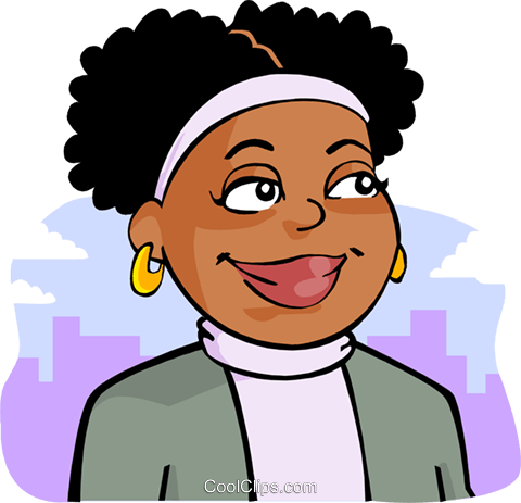 African-American woman Royalty Free Vector Clip Art illustration peop3610