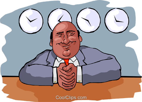 Newsman Royalty Free Vector Clip Art illustration peop3613