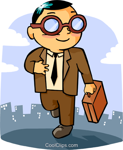 businessman Royalty Free Vector Clip Art illustration peop3617