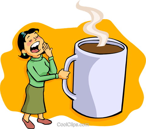 before coffee Royalty Free Vector Clip Art illustration peop3624