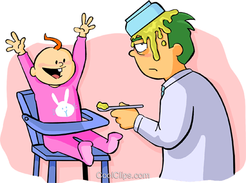 Stay-Home Dad Vektor Clipart Bild peop3629