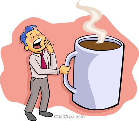before coffee Royalty Free Vector Clip Art illustration peop3630