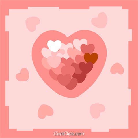 hearts Royalty Free Vector Clip Art illustration spec0386