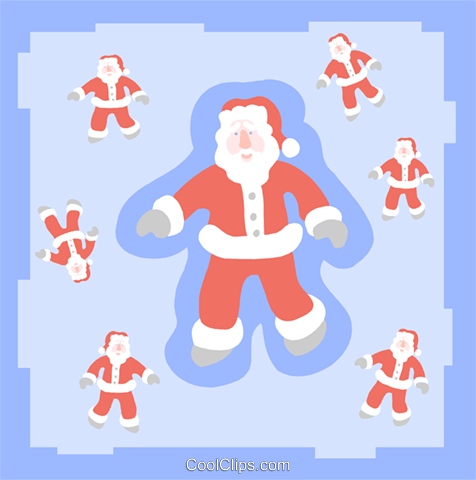 Santa Clauses Royalty Free Vector Clip Art illustration spec0388