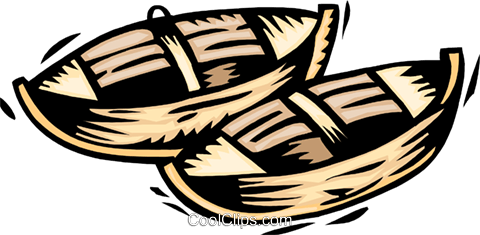 canoes Royalty Free Vector Clip Art illustration tran0978