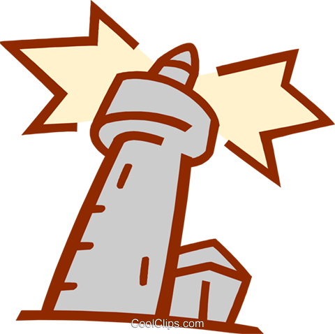 watchtower Royalty Free Vector Clip Art illustration arch0517