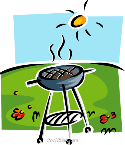 grill, barbeque Royalty Free Vector Clip Art illustration food1179