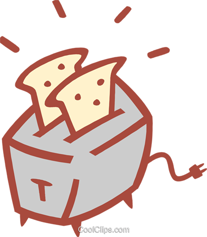 toaster Royalty Free Vector Clip Art illustration food1184