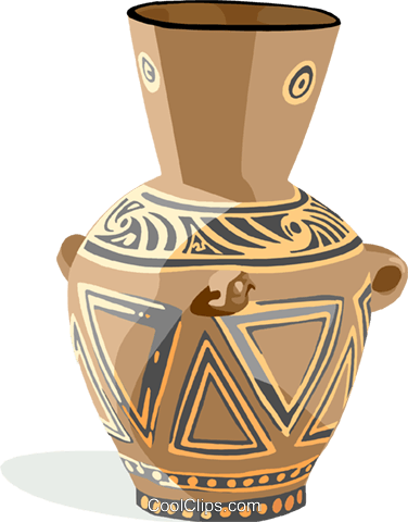 pottery Royalty Free Vector Clip Art illustration hous1369