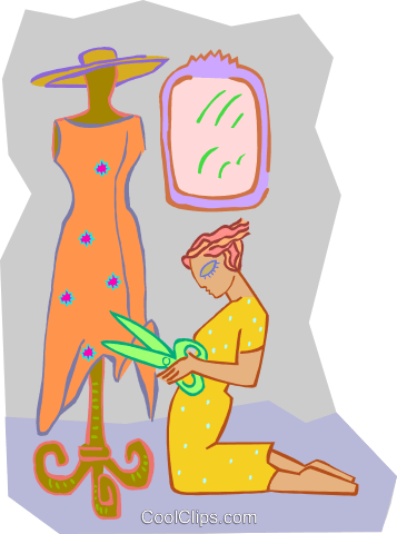 seamstress Royalty Free Vector Clip Art illustration peop3655