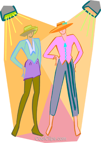 fashion models Royalty Free Vector Clip Art illustration peop3657