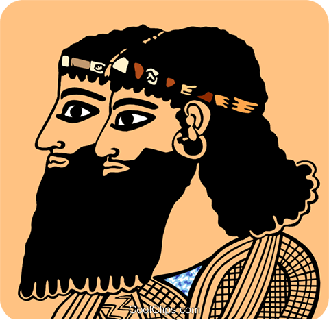 Two Egyptian men Royalty Free Vector Clip Art illustration peop3682